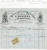 Dépt 28 - Chartres 28 Rue du Bois Merrain - Superbe Entête d'un Arquebusier 1883