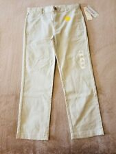 Cat & Jack Boys' Twill Stretch School Uniform Chino Pants Size 12Husky New