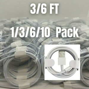 For iPhone 13 12 XS Max XR 8 6 SE iPad Fast Charger Adapter Cable Data Sync Cord