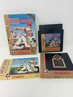 R.B.I. RBI Baseball Tengen gold Nintendo NES Complete In Box CIB rare black cart