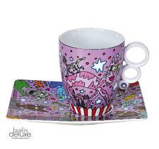 "RIZZI ""City Cats"" Tasse NEU/OVP PopArt Design by GOEBEL Mug Set m. Untertasse"