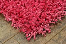 Rose damro shaggy moderne fait main tapis échantillon, taille: 15cmX15cm