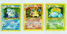 Charizard, Blastoise, Venusaur Pokémon Card Lot - Base Set Rare Holos