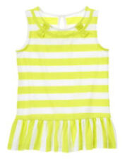 NWT Gymboree Bright and Beachy Striped Ruffle Tunic Top Shirt 6