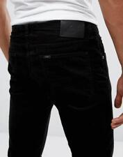 LEE LUKE  BLACK NEEDLE CORDS JEANS 32 waist 34 leg 80s CASUALS RETRO NEW