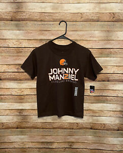 Youth Kids NFL Cleveland Browns Johnny Manziel #2 Tee T-Shirt Small NWT Football