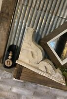 LG RUSTIC CORBEL/BRACKET Distressed White Wood Corbel FARMHOUSE, fixer upper