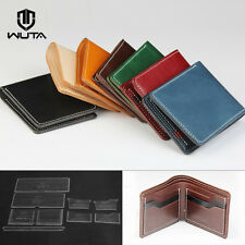 WUTA Short Bifold Wallet Acrylic Leather Template Card Case Craft Pattern 870