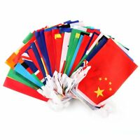 "100 pcs 5.5""*8"" Countries String Flag 25M World Banner home bar party decoration"