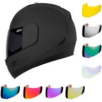 ICON Alliance Dark Rubatone Full Face Motorcycle Helmet with 2 Shields
