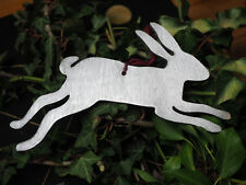 Silver Hare or Rabbit Yule Decoration - Pagan, Wicca, Christmas Ornament