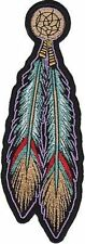 TRIBAL FEATHERS Indian Ladies Embroidered Native MC Club Biker Patch LRG-0331
