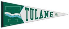 Tulane Green Wave Retro-1960s-Style Ncaa Premium Felt Collectors Pennant