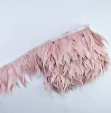 Blush Pink Shredded Goose Feather Fringe Ribbon Trim Price for 30cm DIY Craft