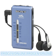 Sony mini Radio SRF-S84 FM/AM Super Compact Radio Walkman Analogue Tuner-Blue