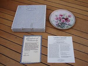 W J George  Shimmering Beauty Plate 10 Lena Liu Carnation Seranade 10th COA