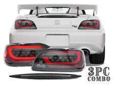 COMBO DEPO LED JDM Sequential Signal Tail Light +Black 3rd Brake For Honda S2000