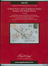 Siegel, US  Confederate Postal History Sale 870, 2003