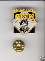PITTSBURGH PIRATES Baseball Team Logo 1980s LAPEL PIN Logo Metal Pinback