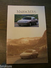 1990 MAZDA MX-6 SALES BROCHURE MINT