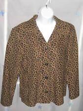 Vintage 90's Briggs Long Sleeve Blouse Top Tribal Leopard Print Boho Sm #CL22