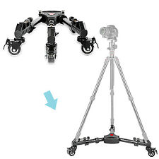 Neewer 15.7inch  Adjustable Tripod Dolly with Rubber Wheels for DSLR Camera