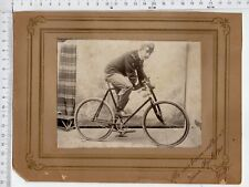266) FOTO militare  BICICLETTA PROTOTIPO AGGANCIO SPADA 1902 FANTE