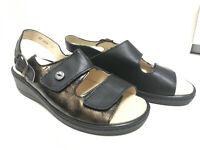 Franken Schuhe Damen Sandale mit herausnehmbarem Fußbett Komplett Leder (4005-6)