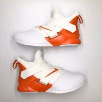 Nike LEBRON SOLDIER XII 12 White Orange Basketball Shoes AT3872-113 Men's Sz 9.5