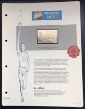 Olympics Los Angeles 1984 USA Gold stamps 99,8% Goldauflage* Only 4.999 MNH 3/9