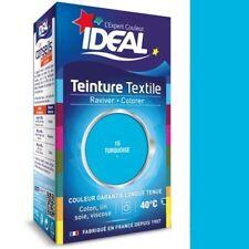 TEINTURE avec FIXATEUR TEXTILE TISSU BLEU TURQUOISE IDEAL vetement coton soie