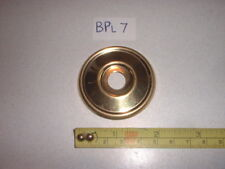 A BRASS DOOR KNOB BACK PLATE/ROSE (NO HOLES) 52 mm DIAMETER RIM LOCK ETC.(BPL 7)
