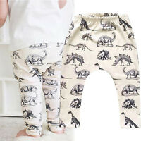 Toddler Kids Baby Boys Girls Leggings Dinosaur Printed Harem Pants Trousers -24M