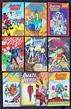 Bundle 10 vfn-/vfn Amazing Heroes Mags 43 64, 67, 73, 82, 83, 85, 101, 166 & 168