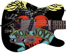 Bon Jovi, Tico Torres, Richie Sambora, David Bryan Autographed Photo Guitar