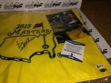 JORDAN SPIETH SIGNED AUTOGRAPHED 2015 MASTERS OFFICIAL GOLF FLAG-PROOF BAS COA