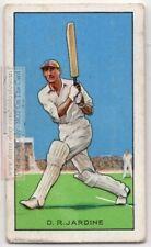 D.R. Jardine Cricketer Captain 1932-33 Ashes Tour Of Australia 1930s Ad Card