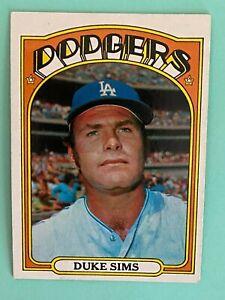 Topps 1972 #63 Duke Sims - Los Angeles Dodgers