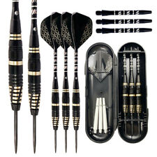 Professional Tungsten Darts Set, Steel Tip+Shaft+Flight+Brass Barrel+Carry Case
