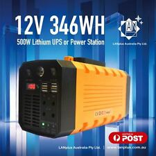 12V 31AH 500W Lithium UPS Portable Power Station Inverter For Camping Hiking 3Kg
