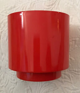 Vintage Retro Mid Century Modern Red Lawn Ware Plastic Planter Flower Pot