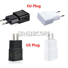 White/Black 5V 2A US/EU Plug 1 Port USB Wall Charger Fast Power Adapter Travel S
