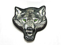 Free shipping Embroidered Applique Iron On Patch Wolf design