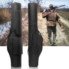 "48"" Double Rifle Case Tactical Black Scoped Soft Padded ShotGun Bag Gun Storage"