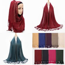 Fashion Women's Polyester Cotton Islamic Muslim Hijab Lady Wrap Shawl Long Scarf