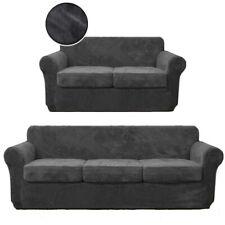 3/4Pcs Soft Velvet Couch Cover Loveseat Sofa Slipcover for Cushion Cover Protect