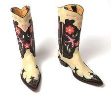 Old Gringo Bluebird Cowboy Boots - Wm's 7B - Inlay Golondrita Golondrina Vtg
