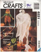 Halloween Ghoulish Fun Gauze Ghosts Witch Pumpkin McCALLs Sew Pattern 6221 Uncut