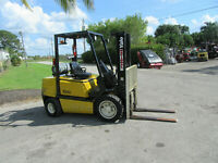 "Yale Forklift Propane GLP060 Side Shift  - Lift 182"" 1918 hrs Pneumatic 6000 LB"