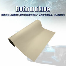 Light Beige Auto Ute Roof Lining Headliner Upholstery Foam Fabric 120cm x152cm